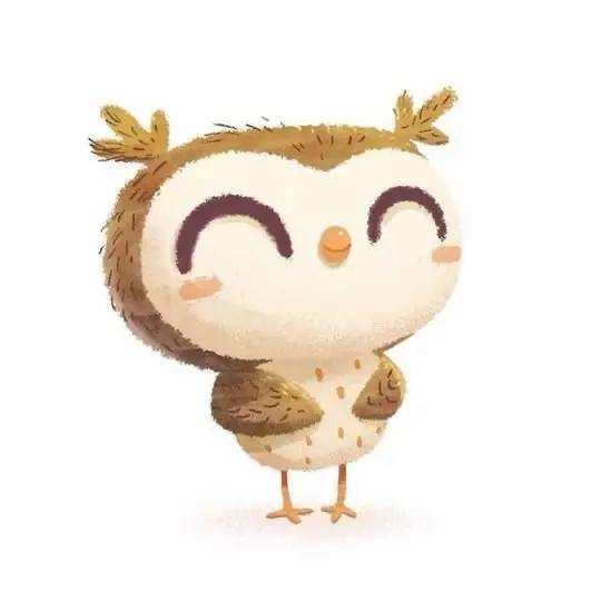 简单又可爱的小动物插画